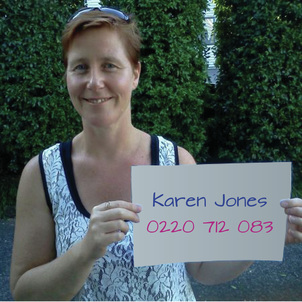 Phone Karen Jones on 0220 712 083